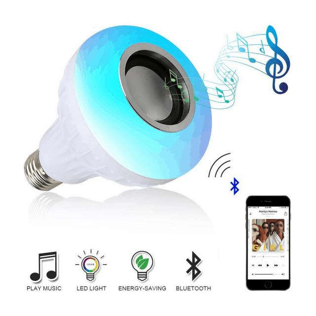 Wireless Bluetooth Speaker and RGB Bulb LED Lamp